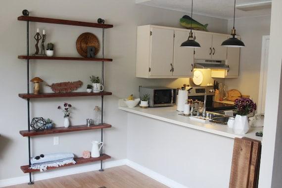 Industrial Wall Unit Reclaimed Wood Shelves Wood Shelves