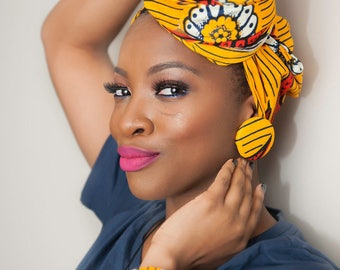 African head wrap, African clothing, Ankara head wrap, head wraps for women, African fabric, Ankara fabric, scarves, African scarf, Gifts