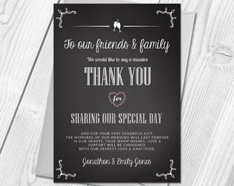 Premium Personalised Wedding Thank You Cards | Wedding Guest Thanks & Envelopes