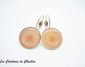 Frost earrings rose Stud Earrings