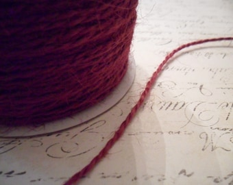 Burgundy Wine Jute Twine 1.5 mm
