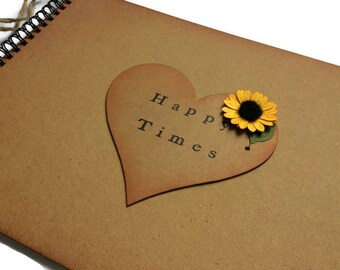 DIY mothers day gift for grandma from the kids, gift for mother, for mum, for her, for nana, for mama for mothers day, Sunflower scrapbook