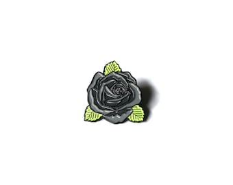 Gray Rose Pin