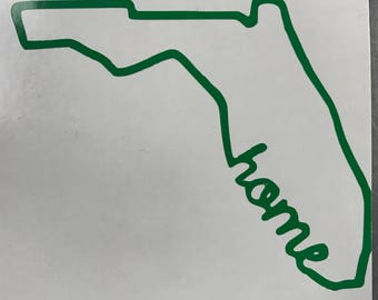 Florida Home/ Love Vinyl Sticker