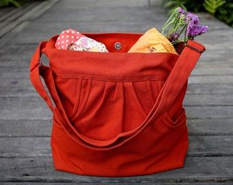 FERN / Burnt Orange / Lined with Beige / Ship in 3 days // Messenger / Diaper bag / Shoulder bag / Tote bag / Purse / Gym bag