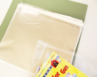 50- 8 x 10 Resealable Clear Cello Bags -Transparent Cello Bags -Food Safe Bags -Small Packing Bags -Self Adhesive Cello Bags