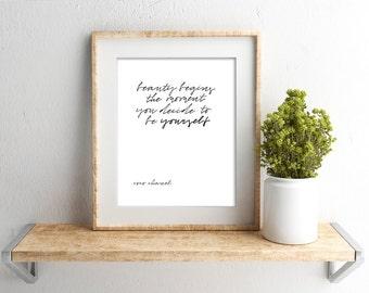 Digital Download // Coco Chanel Quote // Chanel Print