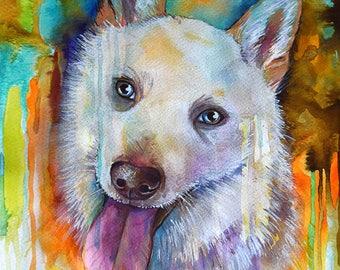 Custom Portrait original watercolor painting, Personalized portrait art, custom pet portrait, custom illustration