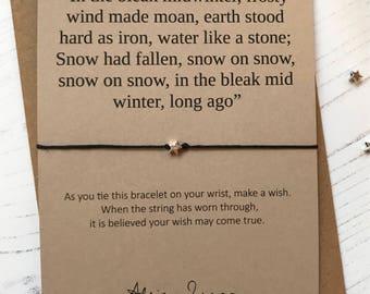 Wish Bracelet - In the bleak midwinter ... Peaky Blinders sentiment card with envelope