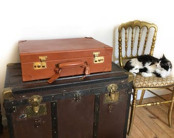 SWAINE and ADENEY Luggage. Leather buisness travel suitcase. Havana leather suitcase. Churchill suitcase.