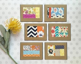 Vintage Floral Quilted Blank Card Set