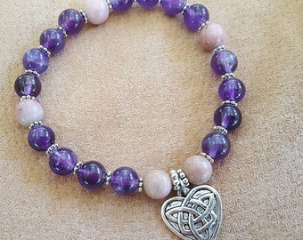 Amethyst & Rhodonite Bracelet