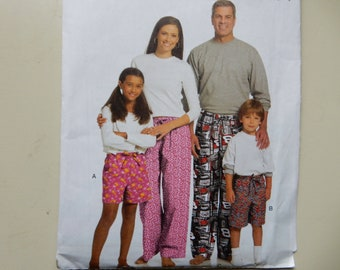 Butterick 5153 Lounge Shorts and Pants Pattern for Children, Men and Women