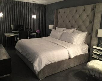 Upholstered bed Etsy