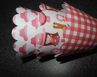 Cowgirl Cupcake Wrappers  Set of 12
