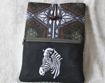 iPad case, Tablet bag ZEBRA