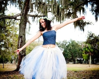 Custom Formal Affair REVERSIBLE Bridal or Prom Tulle Skirt - SEWN and Super Full Tutu - Choose your colors and length