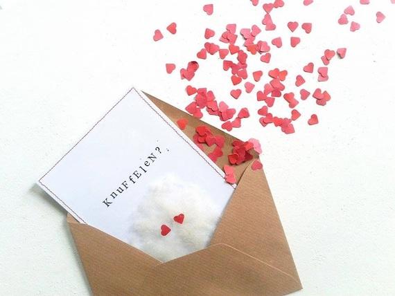 Een knuffel in een enveloppe van Jetitflow
