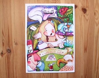 Alice's adventures in Wonderland print