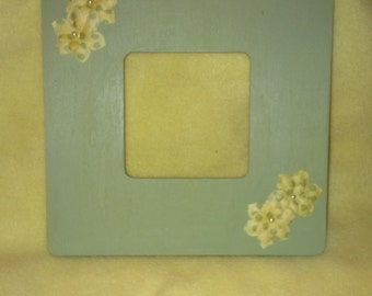 Sage Green Floral 3.5X3.5 Picture Frame