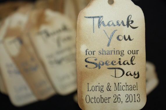100 Thank you for Sharing our Day Wedding Favor Tag