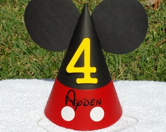 Mickey Mouse party hat with name
