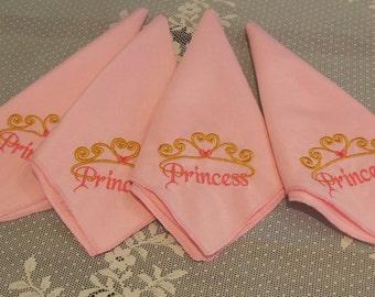 Embroidered Princess Napkins