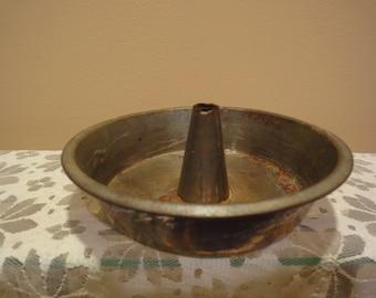 1930's Vintage Angel Food Tin Bundt Pan/Bundt Pan/Baking Pans/Vintage Bakeware/Vintage Cooking Utensils/Vintage Spatula