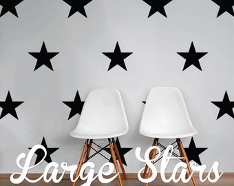 Large Stars Wall Decal Pack, Vinyl Wall Sticker Decal Art Pattern WAL-2168