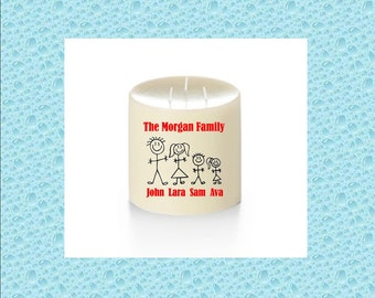 Personalized Candles (FAMILY COLLECTION) - Custom Candles - Friendship - Teachers - Wedding - BFF - Baby Gift - Father's Day - Mother's Day