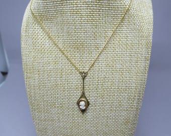 Cameo necklaces vintage etsy ca art nouveau cameo necklacedelicate cameo necklacevintage 14k cameo necklacedainty cameo aloadofball Gallery