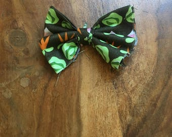 Veggy Print Handmade Rabbit, Cat, or Dog Bow.