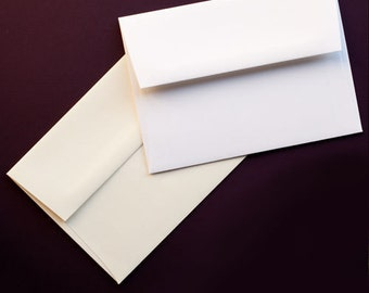 100 (Quantity) - White A7 Envelopes