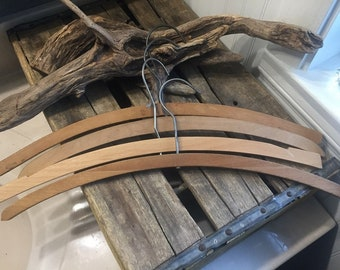 Set of 4 Vintage Clothing Hangers from the 1940's, 1950's and 1960's