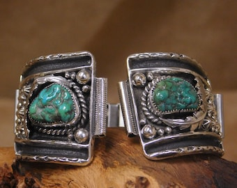 Southwestern Sterling Silver Turquoise Watch Band