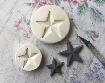 Clay Stamp Star Pottery Press Mold Relief Mold or Sprig Mold Bisque Clay Stamp for Ceramic Decoration and Texture