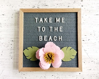 Tropical Felt Flower for Your Letter Board - Photo Prop, Letter Board Decor, Party Decor
