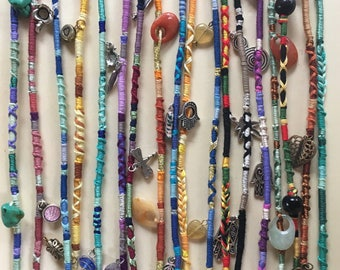 CUSTOM Hair Wrap, Hair Wrap Extension, Hair Extention, Festival Fashion, Bohomian, Embroidered Thread, Friendship Bracelet, Hair Accessory