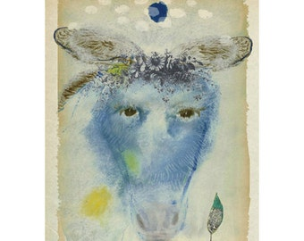 3 Art Cards of Old Donkey Matilda with Story Inside