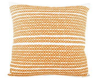 Deco Dots 20in Pillow in MANGO ORANGE