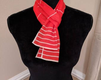 Vintage Red and White Scarf