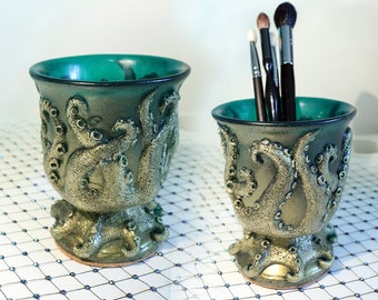 OCTOPUS TENTACLE Cup Green with METALLIC Gold