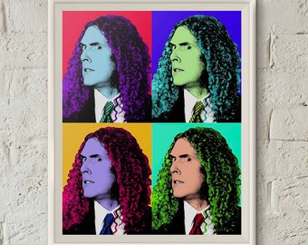 Weird Al, Al Yankovic, Quartet Poster, Andy Warhol Print, Printable Wall Art, Andy Warhol Poster,Dorm Art, Instant Download,Digital Download