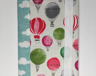 Hot Air Balloon Journal Cover   Notebook   Sketchbook   Journal Included