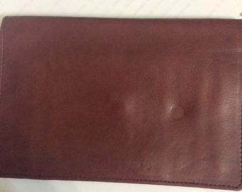 Vintage Oxblood Genuine Leather Bifold Wallet