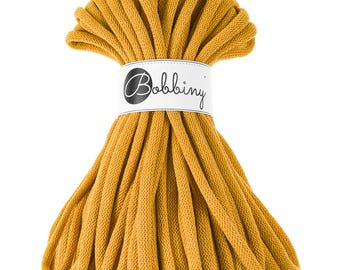 9mm Cotton Cord 22 yards (20 meters) - Mustard; giant macrame cord, chunky yarn, cotton rope, macrame string