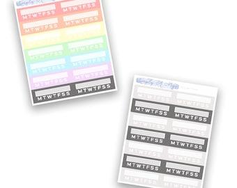 Habit Trackers - Rainbow Collection   Planner Stickers for Erin Condren Vertical Life Planner