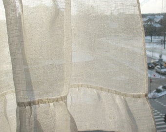 ruffled curtains etsy