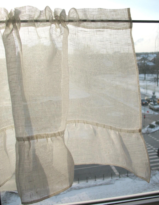 Rüschen Vorhänge Cafe Vorhänge gewaschen Leinen Gardinen Küche