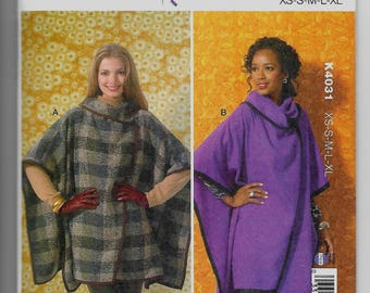 K4031 Kwik Sew Womens Wraps Sewing Pattern Sizes XS-XL